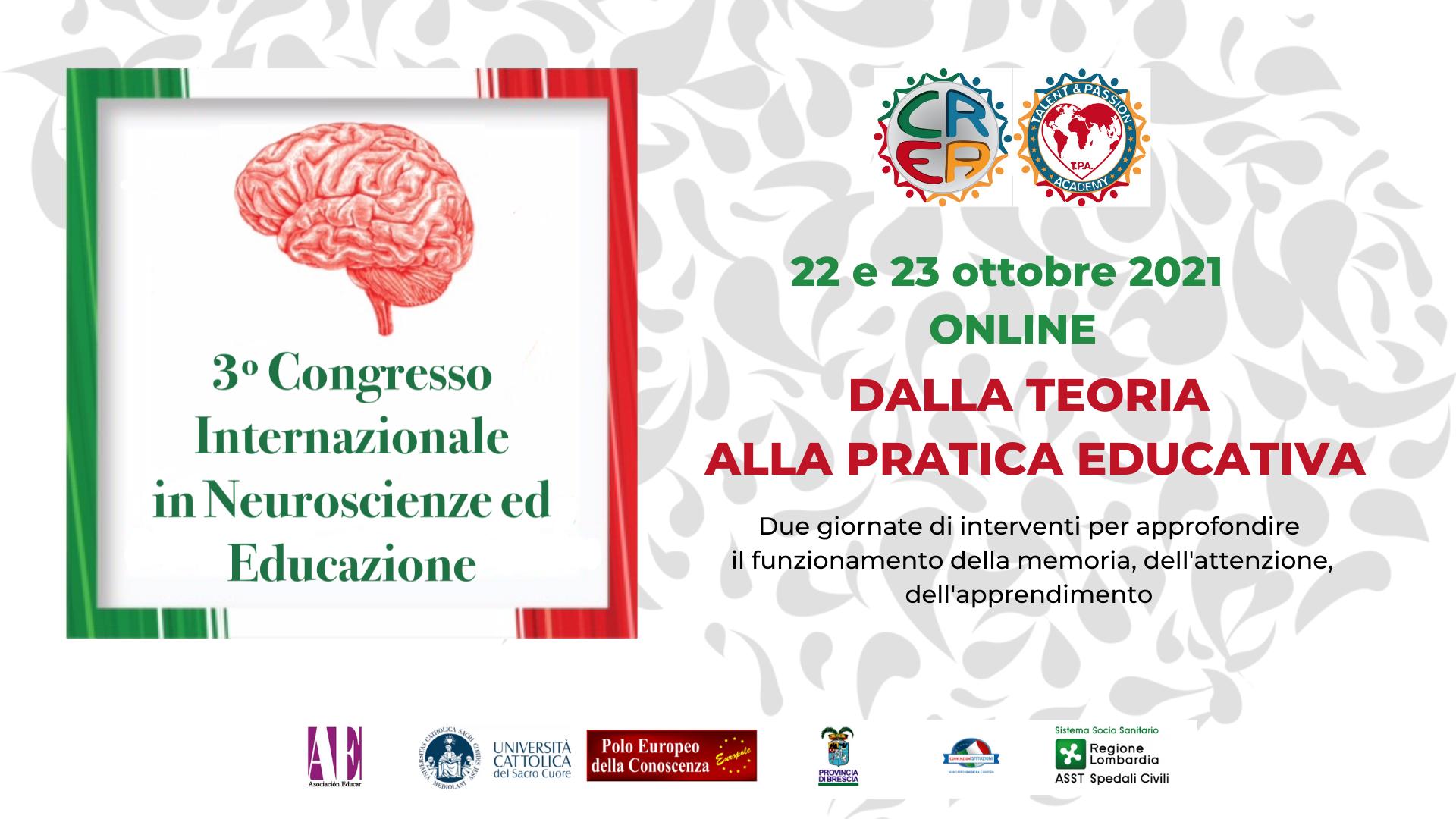 Congresso internazionale in nuroscienze ed educazione